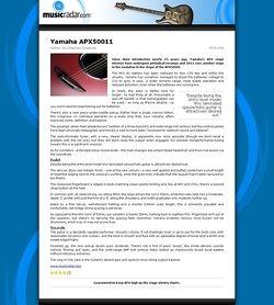 MusicRadar.com Yamaha APX50011