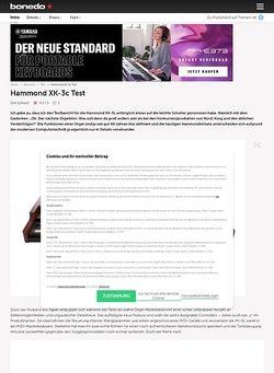 Bonedo.de Hammond XK3c