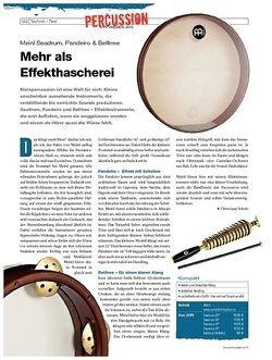 DrumHeads Instrumente & Technik - Test: Meinl Seadrum, Pandeiro & Belltree
