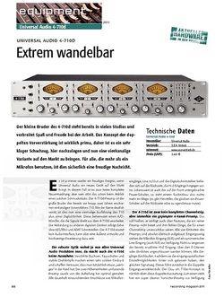 Recording Magazin Extrem wandelbar - Universal Audio 4-710D