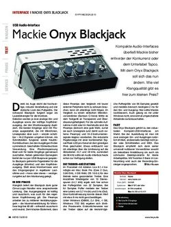 KEYS Mackie Onyx Blackjack