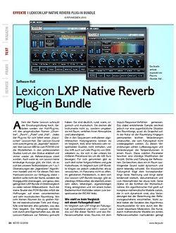 KEYS Lexicon LXP Native Reverb Plug-in Bundle