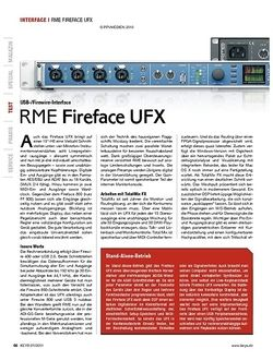 KEYS RME Fireface UFX