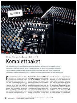 Soundcheck Test: Electro-Voice Live X & Dynacord CMS 1000-3 - Komplettpaket