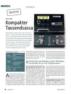 Soundcheck Test Multieffekt: Line 6 M5