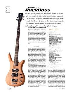 Gitarre & Bass RockBass Corvette $$, E-Bass