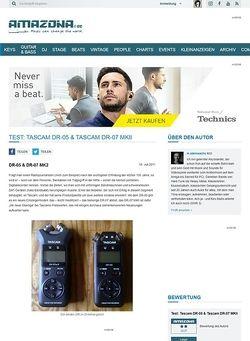 Amazona.de Test: Tascam DR-05 & Tascam DR-07 MKII