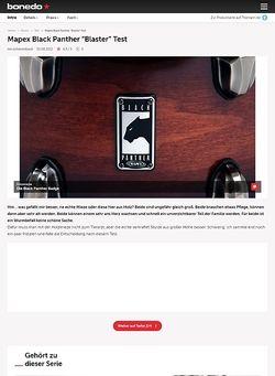 Bonedo.de Mapex Black Panther Snare