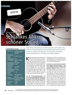 Soundcheck Test mikrofon: Audio-Technica AT2031