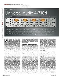 KEYS Universal Audio 4-710d