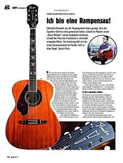 guitar gear Akustikgitarre - Fender Tim Armstrong Hellcat Acoustic