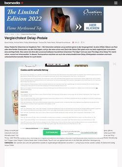 Bonedo.de Testmarathon Delay-Pedale