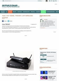Amazona.de Test: the t.bone, TWS16HT, UHF-Wireless-System