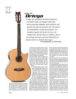 Gitarre & Bass Ortega Jade-NY, Nylonstring-Gitarre