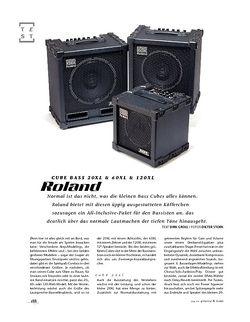 Gitarre & Bass Roland Cube Bass 20XL & 60XL & 120XL, Bass-Combos