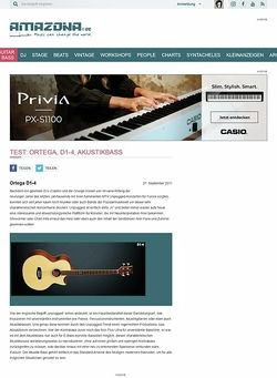 Amazona.de Test: Ortega, D1-4, Akustikbass