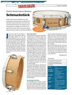 DrumHeads Instrumente & Technik - Test: Gretsch Stanton Moore Signature