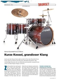 DrumHeads Instrumente & Technik - Test: Sonor Essential Force S Drive