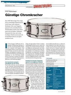 DrumHeads Instrumente & Technik - Test: PDP Mainstage Snares
