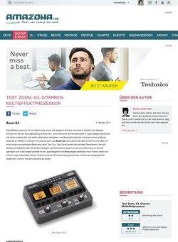 Amazona.de Test: Zoom, G3, Gitarren-Multieffektprozessor
