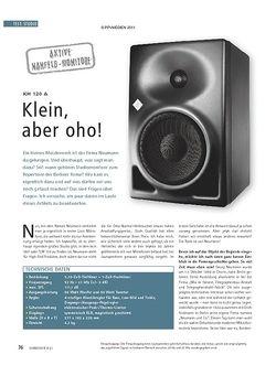 Soundcheck Neumann KH 120 A