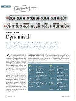 Soundcheck Test Kompressoren: dbx 166xs & 266xs