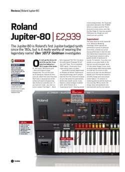 Future Music Roland Jupiter-80