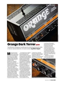 Guitarist Orange Dark Terror