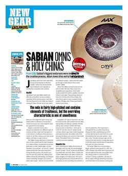 Rhythm SABIAN OMNIS and HOLY CHINAS