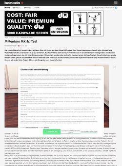 Bonedo.de Millenium MX Jr. Drumset