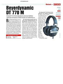 Soundcheck Minicheck - beyerdynamic DT 770 M