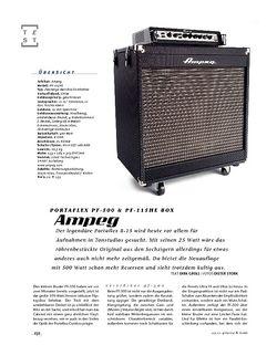Gitarre & Bass Ampeg Portaflex PF-500 & PF-115HE, Bass-Anlage