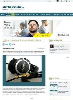Amazona.de Test: Allen & Heath, XD-40, DJ Kopfhörer
