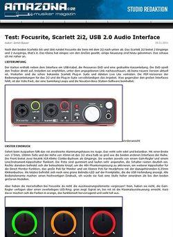 Amazona.de Test: Focusrite, Scarlett 2i2, USB 2.0 Audio Interface