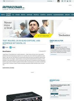 Amazona.de Test: Roland, UA-55 Quad-Capture, USB-Interface mit Digital I/O