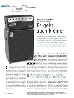 Soundcheck Test Bassamp: Ampeg Heritage SVT-CL & SVT-410 HLF Cabinet