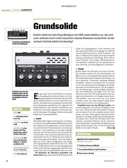 Tastenwelt Test: Mackie Onyx Blackjack - Grundsolide