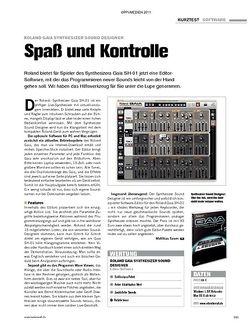 Tastenwelt Test: Roland Gaia Synthesizer Sound Designer