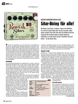guitar gear Effekte - Electro-Harmonix Ravish Sitar