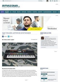 Amazona.de Test: Roland, Jupiter-80, Synthesizer