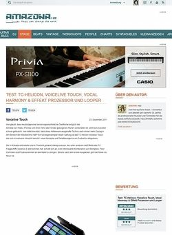 Amazona.de Test: TC-Helicon, Voicelive Touch, Vocal Harmony & Effekt Prozessor und Looper