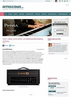 Amazona.de Test: Line6, DT25 Head, Gitarrenverstärker-Topteil