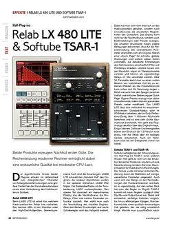 KEYS Relab lX 480 lItE & Softube tSar-1