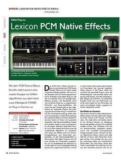 KEYS Lexicon PCM Native Effects