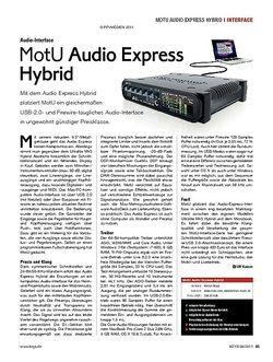 KEYS MotU Audio Express Hybrid