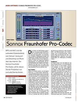 KEYS Sonnox Fraunhofer Pro-Codec