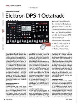 KEYS Elektron DPS-1 Octatrack