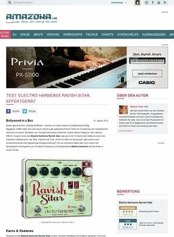 Amazona.de Test: Electro-Harmonix, Ravish Sitar, Gitarren-Effektgerät
