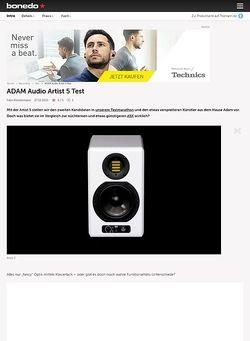 Bonedo.de ADAM Audio Artist 5
