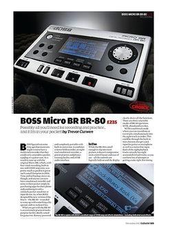 Guitarist Boss Micro BR BR-80